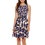 Danny & Nicole® Sleeveless Floral Fit-and-Flare Dress - Petite