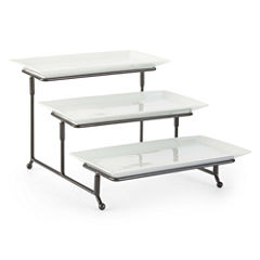 JCPenney Home™ Whiteware 3-Tiered Server on Metal Rack
