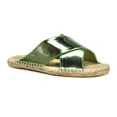 Muk Luks® Misty Metallic Sandals