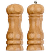 Natico Executive Chef Bamboo Salt Shaker and Pepper Mill Set