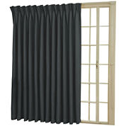 Eclipse® Back-Tab/Pinch-Pleat Thermal Blackout Patio Door Curtain Panel