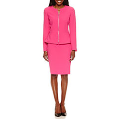 Chelsea Rose Long Sleeve Zip Jacket with Straight Skirt