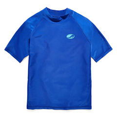 Arizona Boys Solid Rash Guard-Big Kid