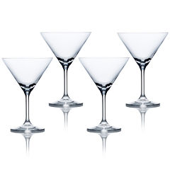 Mikasa® Laura Set of 4 Crystal Martini Glasses