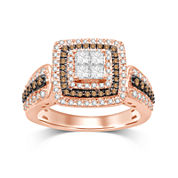 1 CT. T.W. Diamond 10K Two-Tone Gold Ring