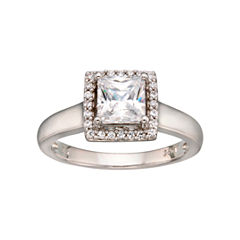 DiamonArt® Framed Princess Ring Sterling