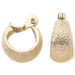 Monet® Gold-Tone Textured Hoop Clip-On Earrings