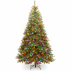 National Tree Co. 7 1/2 Foot Dunhill Fir Pre-Lit Christmas Tree