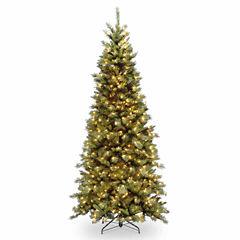 National Tree Co. 7 1/2 Foot Tiffany Slim Fir Pre-Lit Christmas Tree