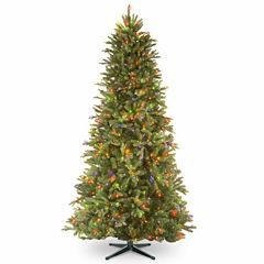 National Tree Co. 7 1/2 Foot Tiffany Fir Slim Memory-Shape Pre-Lit Christmas Tree