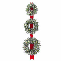 National Tree Co. Sparkling Glittered Tips Indoor/Outdoor Christmas Wreath