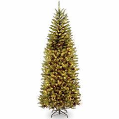 National Tree Co. 7 1/2 Foot Kingswood Fir Slim Hinged Pre-Lit Christmas Tree