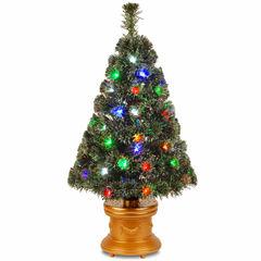 National Tree Co. 3 Foot Evergreen Firework Pre-Lit Christmas Tree
