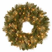 National Tree Co. Flocked Pine Cones And Carolina Pine Indoor/Outdoor Christmas Wreath