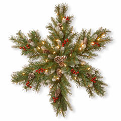 National Tree Co. Frosted Berry Snowflake Holiday Yard Art