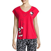 Disney Short Sleeve Pajama Top-Juniors