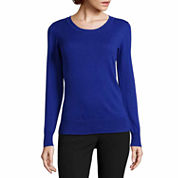 Worthington® Long-Sleeve Essential Crewneck Sweater - Tall