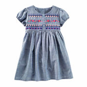 Oshkosh Short Sleeve Babydoll Dress - Toddler