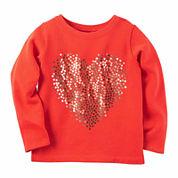 Carter's Long Sleeve T-Shirt-Toddler Girls