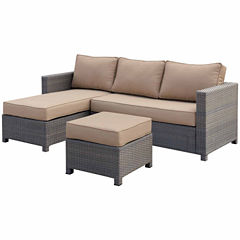 2-pc. Wicker Patio Sectional