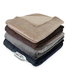 Serta Shimmer Stripe Heated Electric Blanket