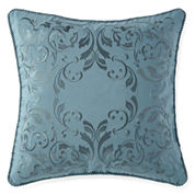 Royal Velvet Sienna Square Embroidered Decorative Pillow