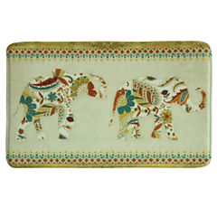Bacova Guild Boho Elephant Rectangular Kitchen Mat