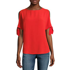 i jeans by Buffalo Cold Shoulder Tie Sleeve Top