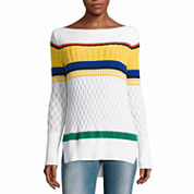 Liz Claiborne Long Sleeve Scoop Neck Pullover Sweater