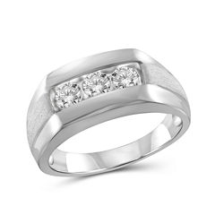 Mens 1 CT. T.W. White Diamond 10K Gold Band