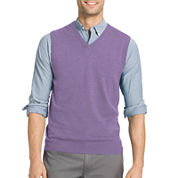 IZOD V Neck Cotton Blend Sweater Vest