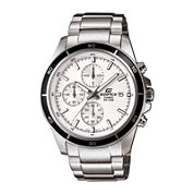 Casio Mens Silver Tone Bracelet Watch-Efr-526d-7av