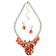 Mixit Womens 2-pc. Orange Jewelry Set
