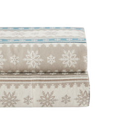 Woolrich Nordic Snowflake Flannel Flannel Easy Care Sheet Set