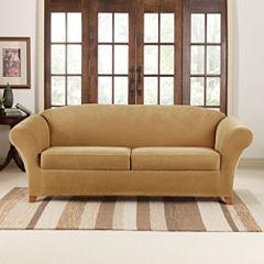 SURE FIT® Stretch Piqué 2 Seat Individual Cushion Sofa Covers