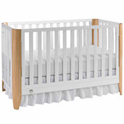 Fisher Price Jaxon Crib White-Natural - Free Mattress with Purchase, See Product Page for Details