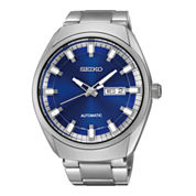 Seiko® Recraft Mens Stainless Steel Automatic Watch SNKN41