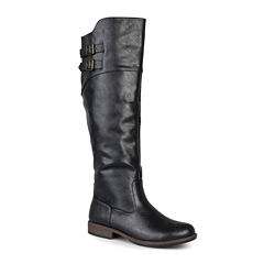 Journee Collection Tori Double-Buckle Knee-High Riding Boots