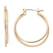 Monet® Gold-Tone 2-Row Hoop Earrings