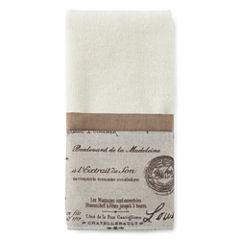 Edwardian Script Fingertip Towel