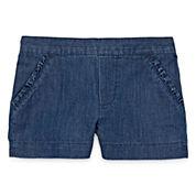 Okie Dokie® Denim Shorty Shorts - Toddler Girls 2t-5t