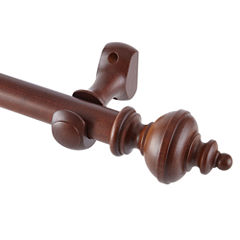 Chess Wood 4ft. Curtain Pole Set