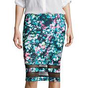 BELLE + SKY™ Mesh Detail Pencil Skirt