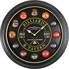 FirsTime® Billiards Wall Clock