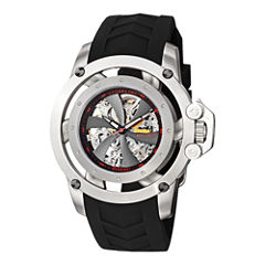 Stührling® Original Mens Propeller-Style Skeleton Automatic Watch