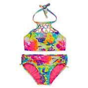Laguna Girls Pattern Tankini Set