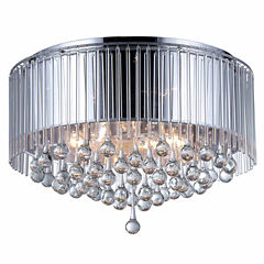 Warehouse Of Tiffany Robin Chrome-finish Crystal Chandelier