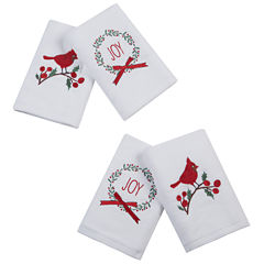 Jingling Joy 4-pc Embroidered Hand Towel Set