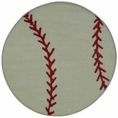 Baseball Round Rugs
