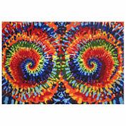 Tie-Dye Fun Rectangle Rugs